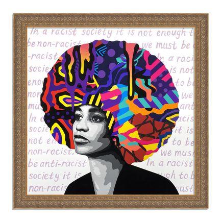 Dina Saadi Art Print - Angela - In a Racist Society... - II