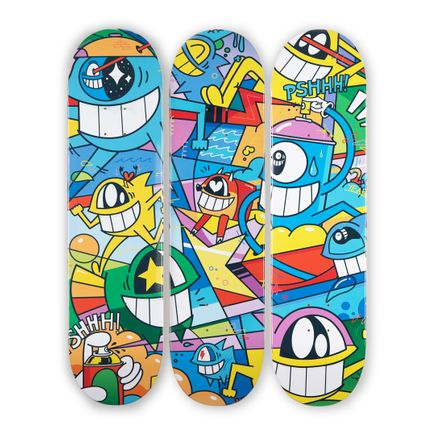 Pez Art Print - 20 Years Smiling With Friends - 3-Deck Triptych