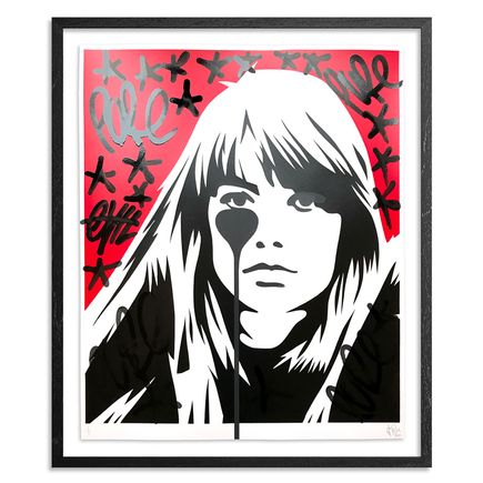 Pure Evil Art Print - 02 Hand-Finished Variant - Françoise Hardy - Jacques Dutronc's Nightmare - Red & Black Edition
