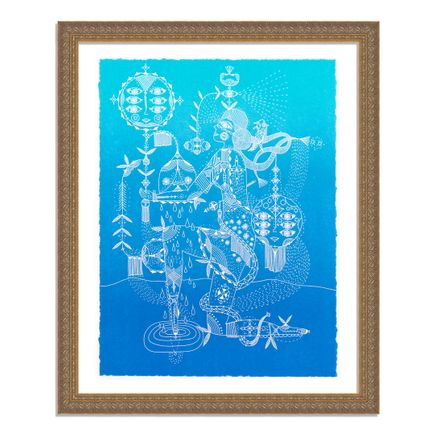 Bunnie Reiss Art Print - Nature's Cosmic Power - Azul Edition
