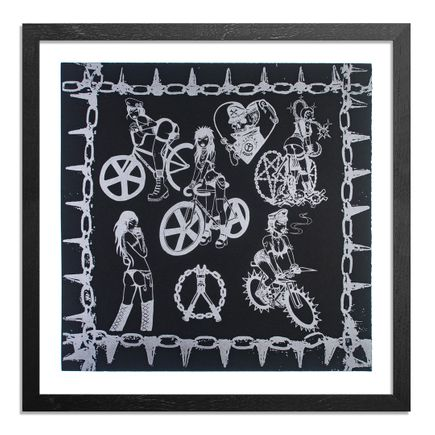 Caroline Caldwell Art Print - Biker Babez - Black Edition