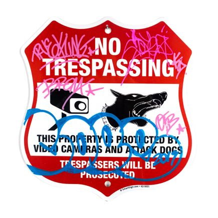 Cope2 Original Art - No Trespassing - Attack Dog - II