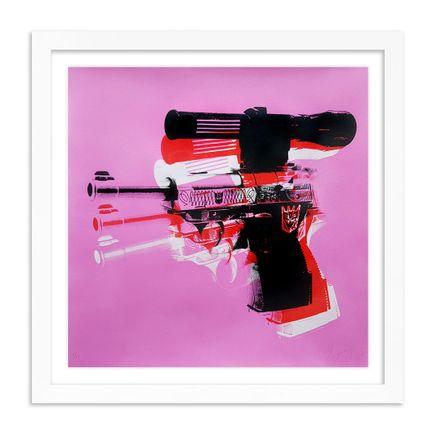 Copyright Art Print - Warhol Meets Megatron - Pink Edition