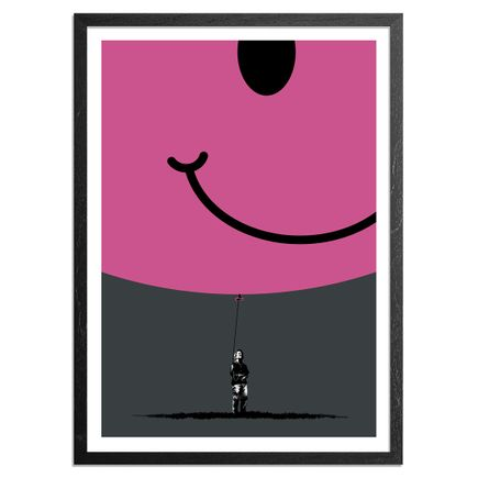 Eelus Art Print - 2 of 5 - Hand-Painted Smiley Balloon Edition - Hold On To What You Got