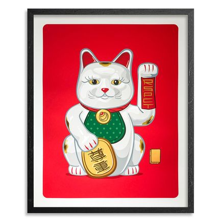 Mark Sarmel Art Print - Lucky Cat - White Edition