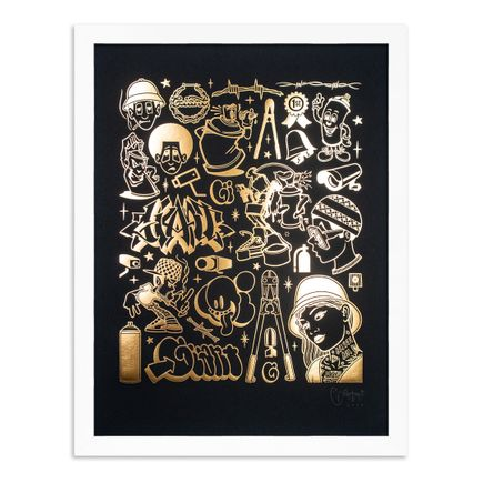 Mike Giant Art Print - Modern Hieroglyphics - Graffiti: Gold Edition
