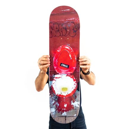 Rabi of CYRCLE Art Print - Peace Out My Guy - Skate Deck Variant