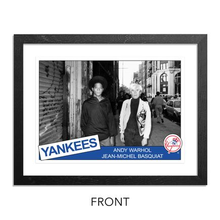 Ricky Powell Art Print - Andy Warhol & Jean-Michel Basquiat - SoHo. NYC. 1985 - Grand Slam Edition - Yankees Variant