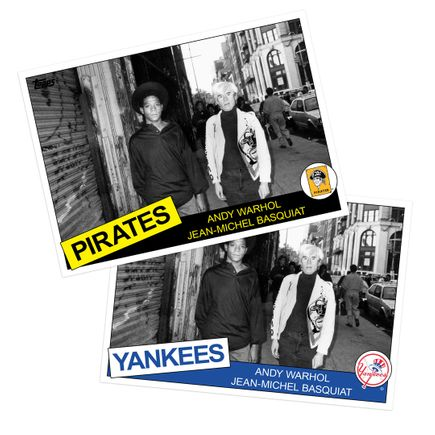 Ricky Powell Art Print - 2-Print Set - Andy Warhol & Jean-Michel Basquiat - SoHo. NYC. 1985 - Grand Slam Edition - Pirates + Yankees Variant