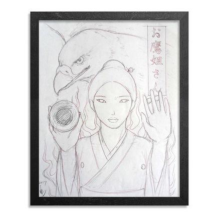 Yumiko Kayukawa Original Art - Original Sketch - Sister Hawk - Otaka Neesan