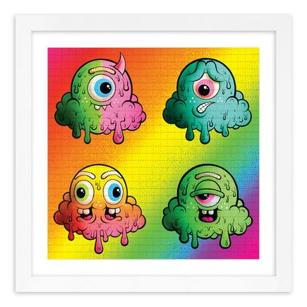 Buff Monster Art Print - Motley Rainbow - Blotter Edition