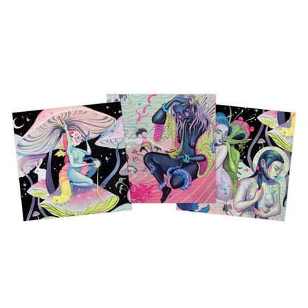 Lauren YS Art Print - 3-Print Set - Blotter Edition - Lauren YS