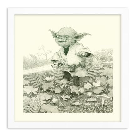 Matt Gordon Art Print - Happy Yoda