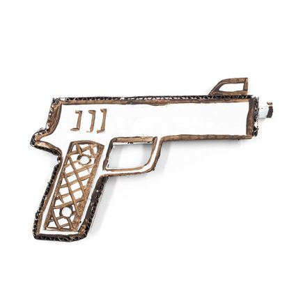 Bill Barminski Original Art - 45 Pistol - Brown