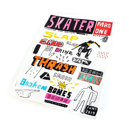 Bill Barminski Original Art - Skater Mag One