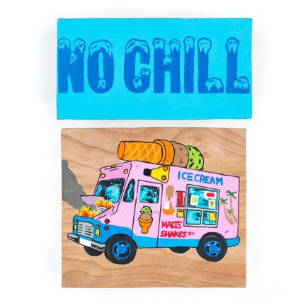 Nick Pizana Original Art - No Chill - Dyptic