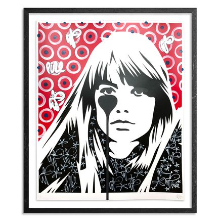Pure Evil Art Print - 03 Hand-Finished Variant - Françoise Hardy - Jacques Dutronc's Nightmare - Red & Black Edition