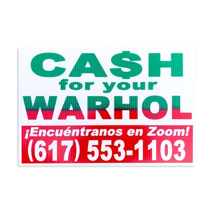 Cash For Your Warhol Art Print - ¡Encuéntranos En Zoom!