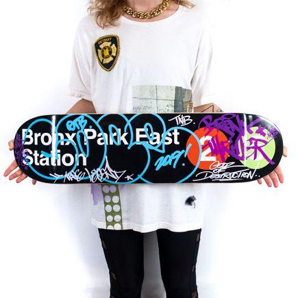 Cope2 Art Print - Bronx Park East Station - Skate Deck Variant