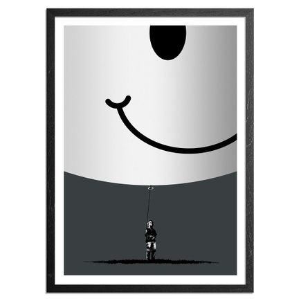 Eelus Art Print - 3 of 5 - Hand-Painted Smiley Balloon Edition - Hold On To What You Got