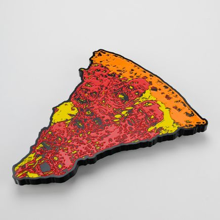 French Original Art - Oversized Enamel Pizza Slice - Variant III