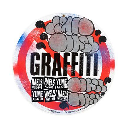 Hael Original Art - No Graffiti Symbol - III - 12 x 12 Inches