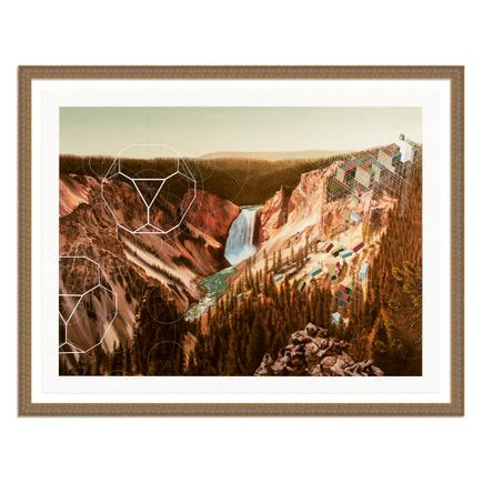 Mary Iverson Art Print - 3 of 20 - Yellowstone Falls - Hand-Embellished Edition