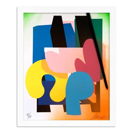 Maser Art Print - 3 of 15 - Stacked Forms 002 - Hand-Embellished Edition