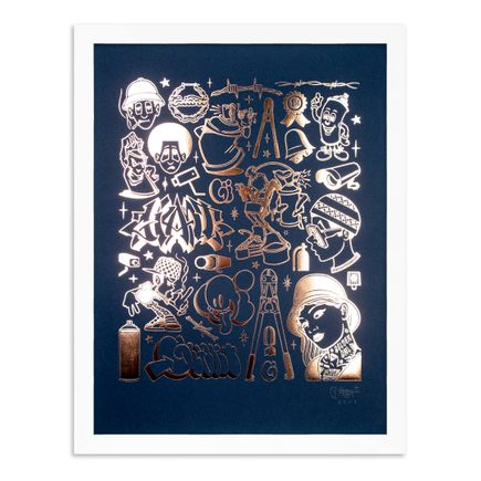 Mike Giant Art Print - Modern Hieroglyphics - Graffiti: Copper Edition