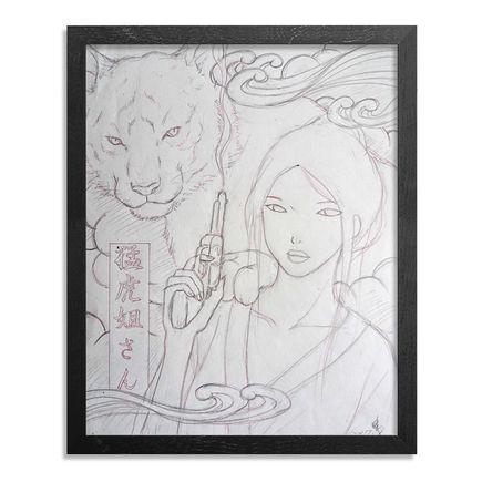 Yumiko Kayukawa Art - Original Sketch - Sister Tigress - Mouko Neesan