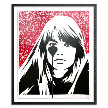 Pure Evil Art Print - 04 Hand-Finished Variant - Françoise Hardy - Jacques Dutronc's Nightmare - Red & Black Edition