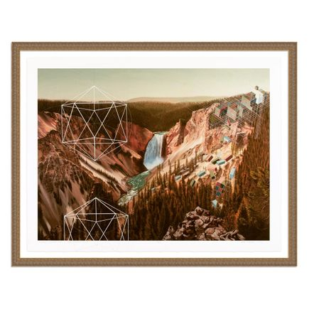 Mary Iverson Art Print - 4 of 20 - Yellowstone Falls - Hand-Embellished Edition