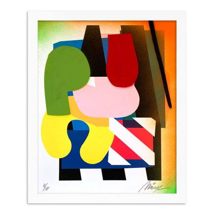 Maser Art Print - 4 of 15 - Stacked Forms 002 - Hand-Embellished Edition