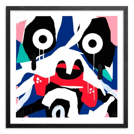 Mysterious Al Art Print - 4 of 15 - Blue Mask - Hand-Painted Edition