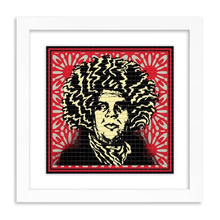 Shepard Fairey X John Van Hamersveld Art Print - Psychedelic Andre - Classic Red Obey Giant Variant