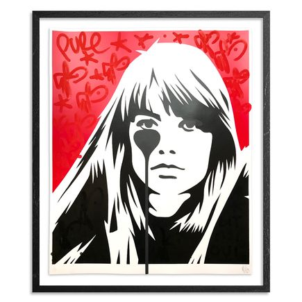 Pure Evil Art Print - 05 Hand-Finished Variant - Françoise Hardy - Jacques Dutronc's Nightmare - Red & Black Edition