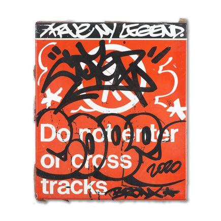 Cope2 Original Art - True NY Legend - Do Not Enter or Cross Tracks - Original Artwork