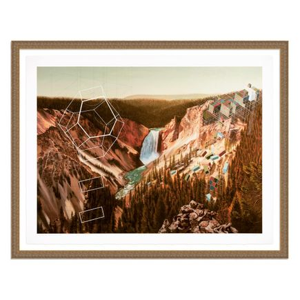 Mary Iverson Art Print - 5 of 20 - Yellowstone Falls - Hand-Embellished Edition