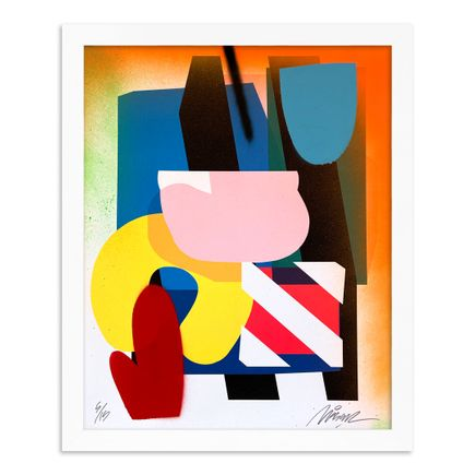Maser Art Print - 5 of 15 - Stacked Forms 002 - Hand-Embellished Edition