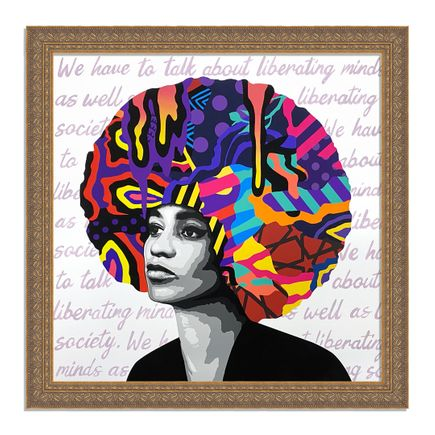 Dina Saadi Art Print - Angela - Liberating Minds - III