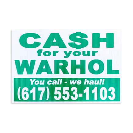 Cash For Your Warhol Art Print - You Call - We Haul!