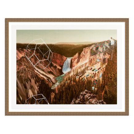 Mary Iverson Art Print - 6 of 20 - Yellowstone Falls - Hand-Embellished Edition