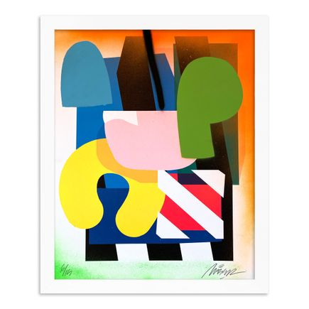 Maser Art Print - 6 of 15 - Stacked Forms 002 - Hand-Embellished Edition