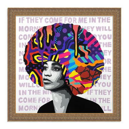 Dina Saadi Art Print - Angela - If They Come For Me - II
