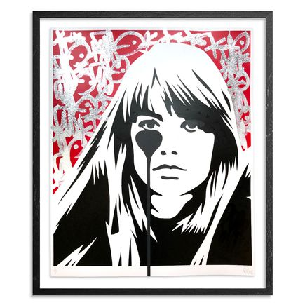 Pure Evil Art Print - 07 Hand-Finished Variant - Françoise Hardy - Jacques Dutronc's Nightmare - Red & Black Edition