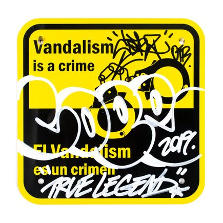 Cope2 Original Art - Vandalism Is A Crime - V