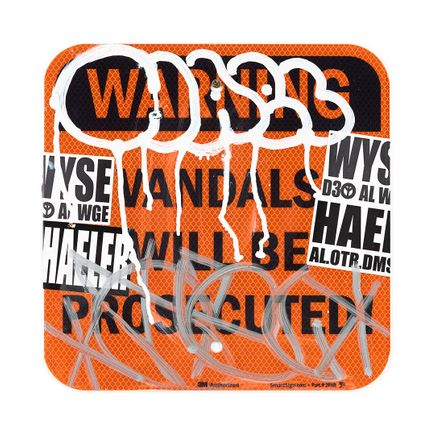 Hael Original Art - Vandals Will Be Prosecuted - VIII - 12 x 12 Inches