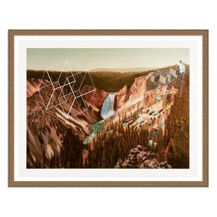 Mary Iverson Art Print - 7 of 20 - Yellowstone Falls - Hand-Embellished Edition