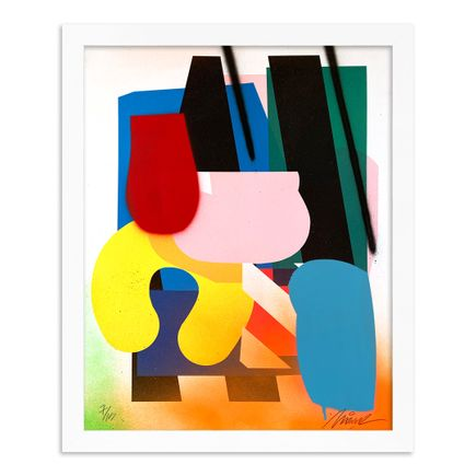 Maser Art Print - 7 of 15 - Stacked Forms 002 - Hand-Embellished Edition