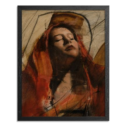 Adam Caldwell Original Art - Audrey #6 - Framed Original Artwork